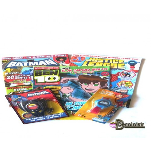 pochette enfant lot 3 livres batman + 2 jouets