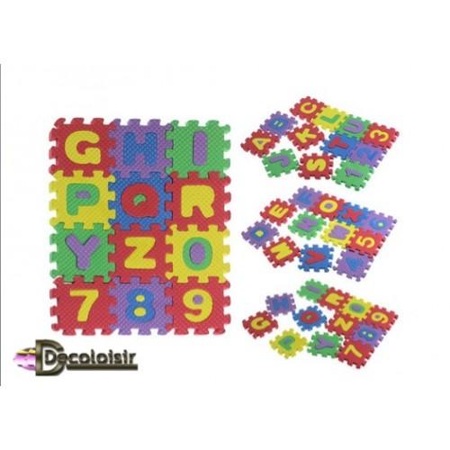 LETTRES et chiffres en mousse EVA puzzle