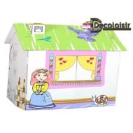 cabane princesse à PEINDRE ou à colorier
