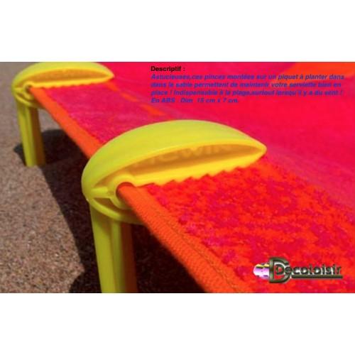 piquet pince pour serviette de plage pic win verte d coloisir. Black Bedroom Furniture Sets. Home Design Ideas